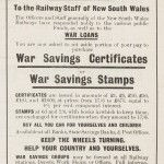 "Advertisement for War Loans in ""Railway Budget"" magazine, 1917-1918"