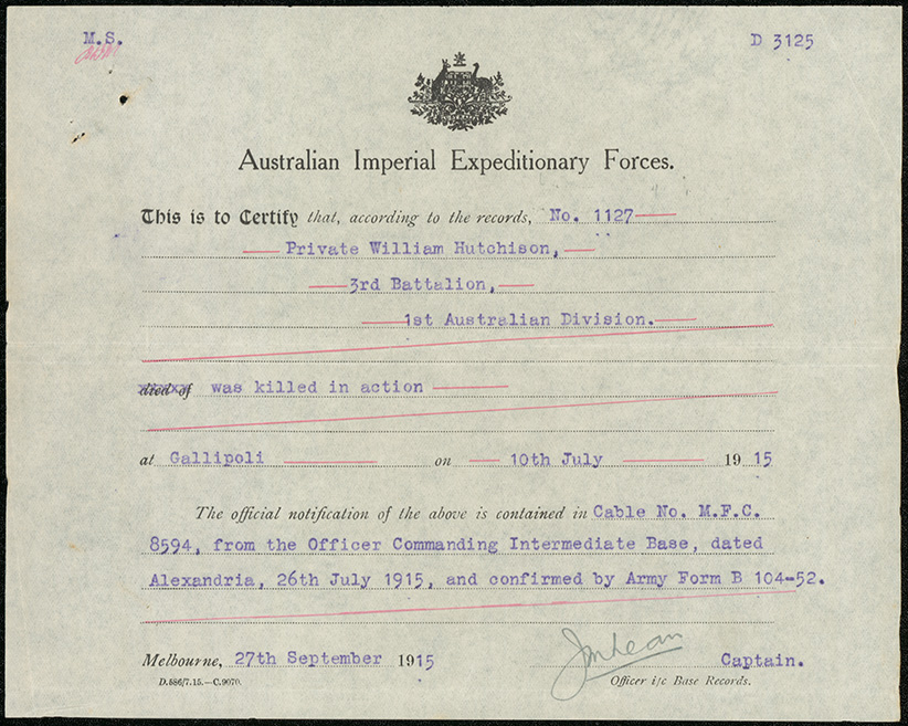 Notification Of Death By Aif For Hutchison Nrs 13660 Probate 4