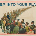 Step into your place war poster