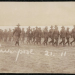 Soldiers drilling at Liverpool Camp, 21 November 1915. From NRS 4474 [1/194] D4480, image 11.